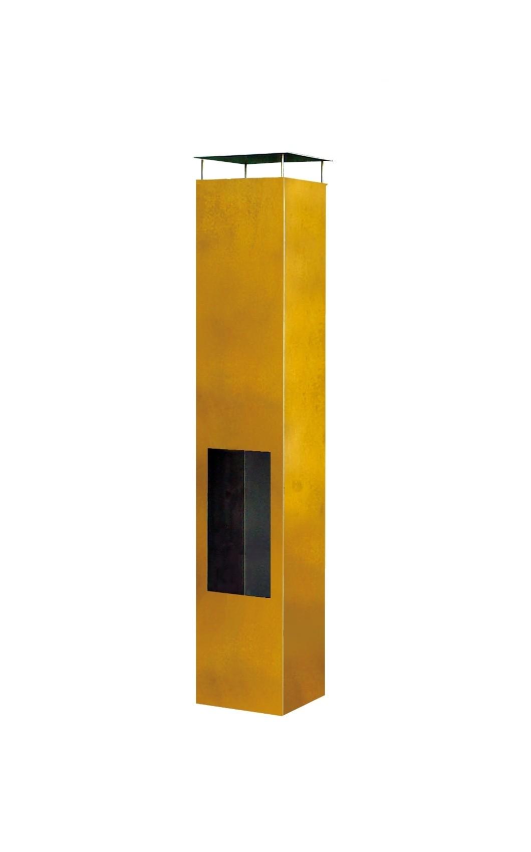 Amayo tuinhaard 35x35x150 cm. Corten