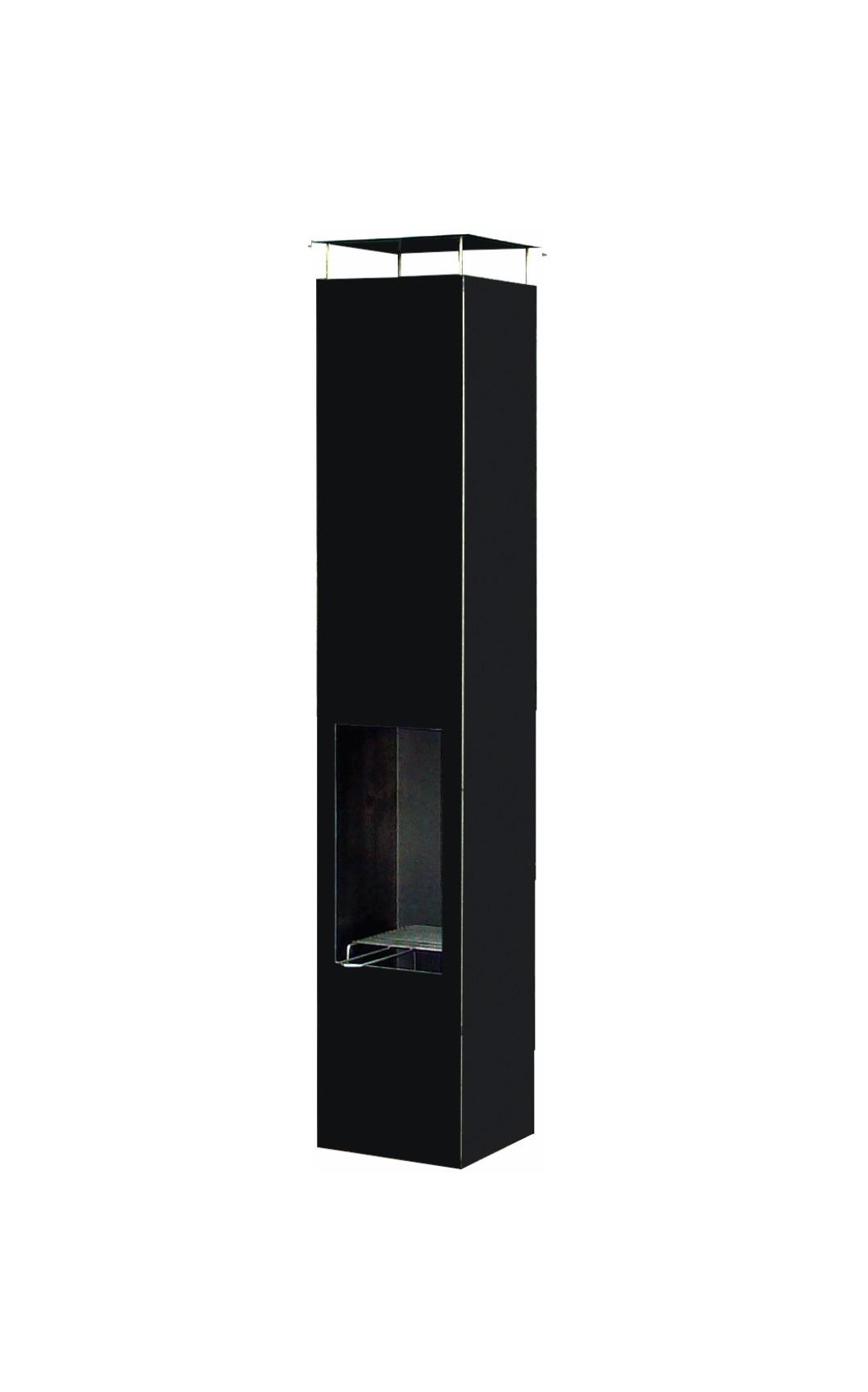 Amayo tuinhaard 35x35x150 cm. Zwart