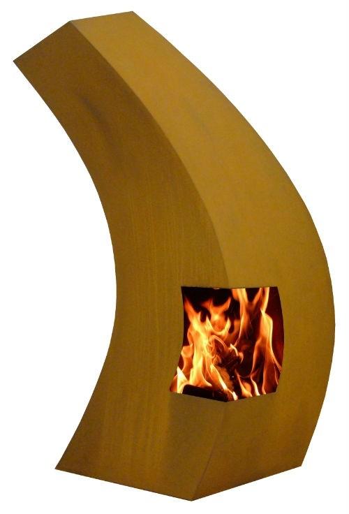 Bayo tuinhaard 55x105x185 cm. Corten