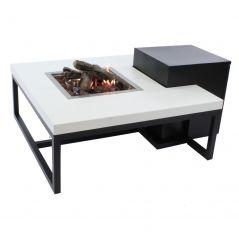 Enjoyfires vuurtafel Ambiance zwart wit 90x90 cm.