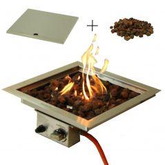 Sparkly Fire inbouwbrander 40x40 cm