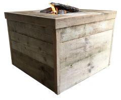 Enjoyfires Feuertisch Block altes Gerüstholz