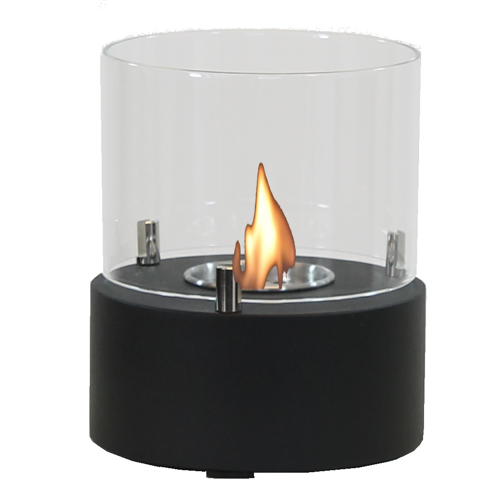 Enjoyfires bio ethanol tafelhaard binnen rond Ø15x18 cm - zwart