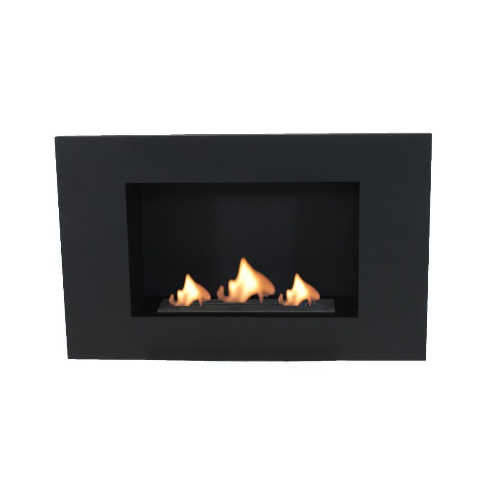 Enjoyfires wandhaard bio ethanol 80x50x20 cm - zwart