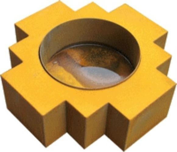 Inca vuurschaal 61x61x18 cm. Corten