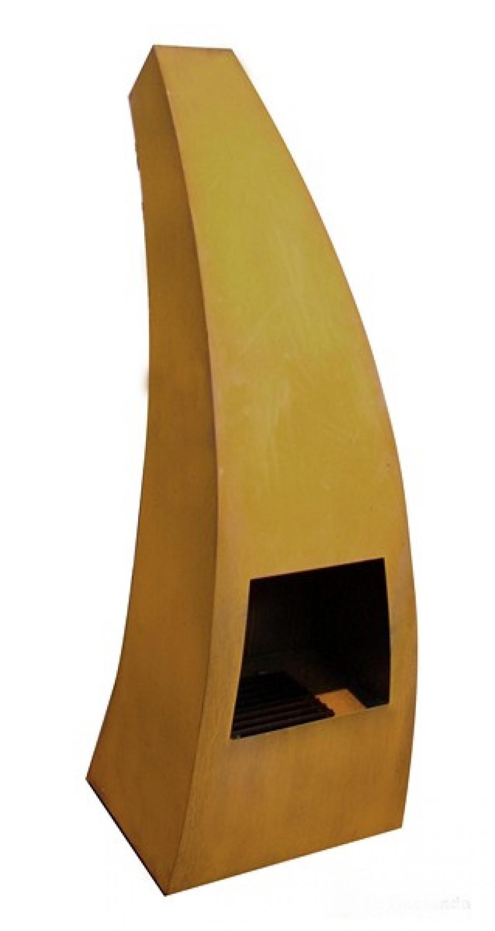 Maca-klein tuinhaard 45x40x120 cm. Corten
