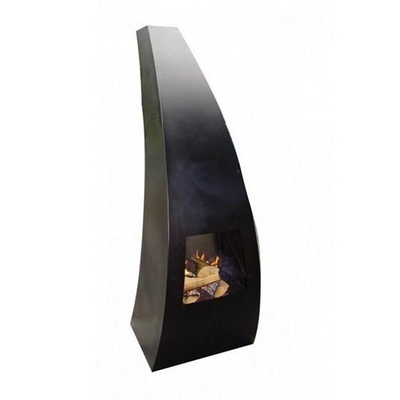 Maca-klein tuinhaard 45x40x120 cm. Zwart