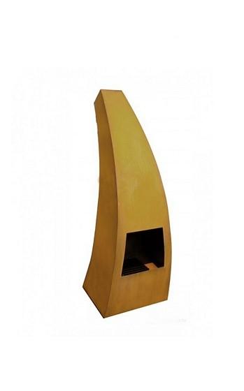 Maca-klein tuinhaard 46x42x120 cm. Corten