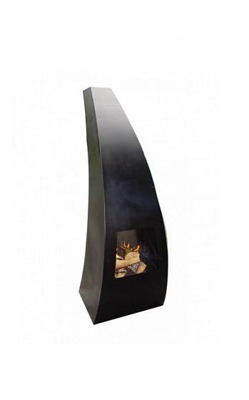 Maca-klein tuinhaard 46x42x120 cm. Zwart