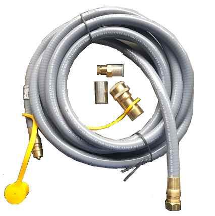 Ombouwset aardgas voor Sparkly Fire inbouwbrander 65x19 cm