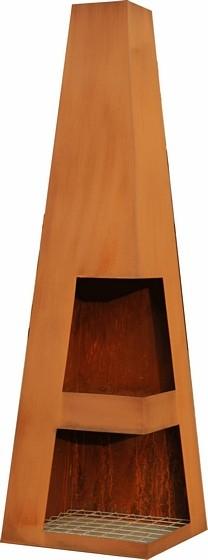 Sanga tuinhaard XL 44x44x150 cm. Corten
