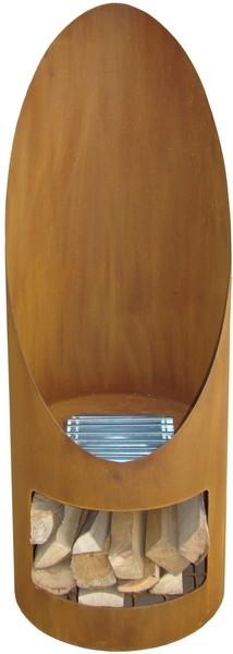 Soler tuinhaard �44x120 cm. Corten