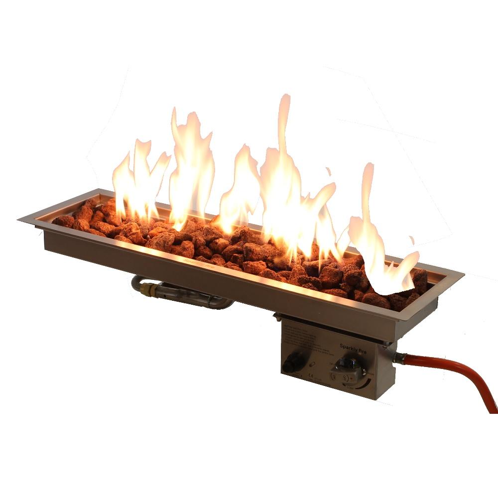 Sparkly Fire inbouwbrander 65x19x15 cm