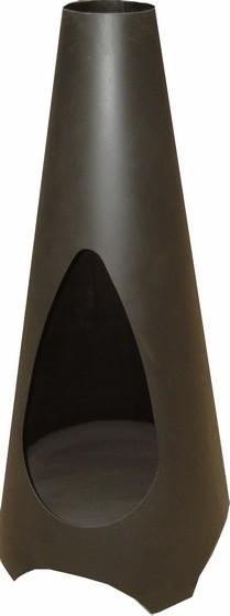 Vica tuinhaard Ø56x120 cm. Zwart