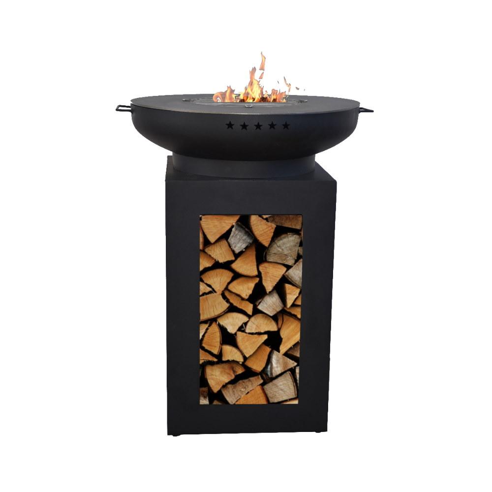 Enjoyfires vuurschaal Ø70 cm complete BBQ set incl. houtopslag High