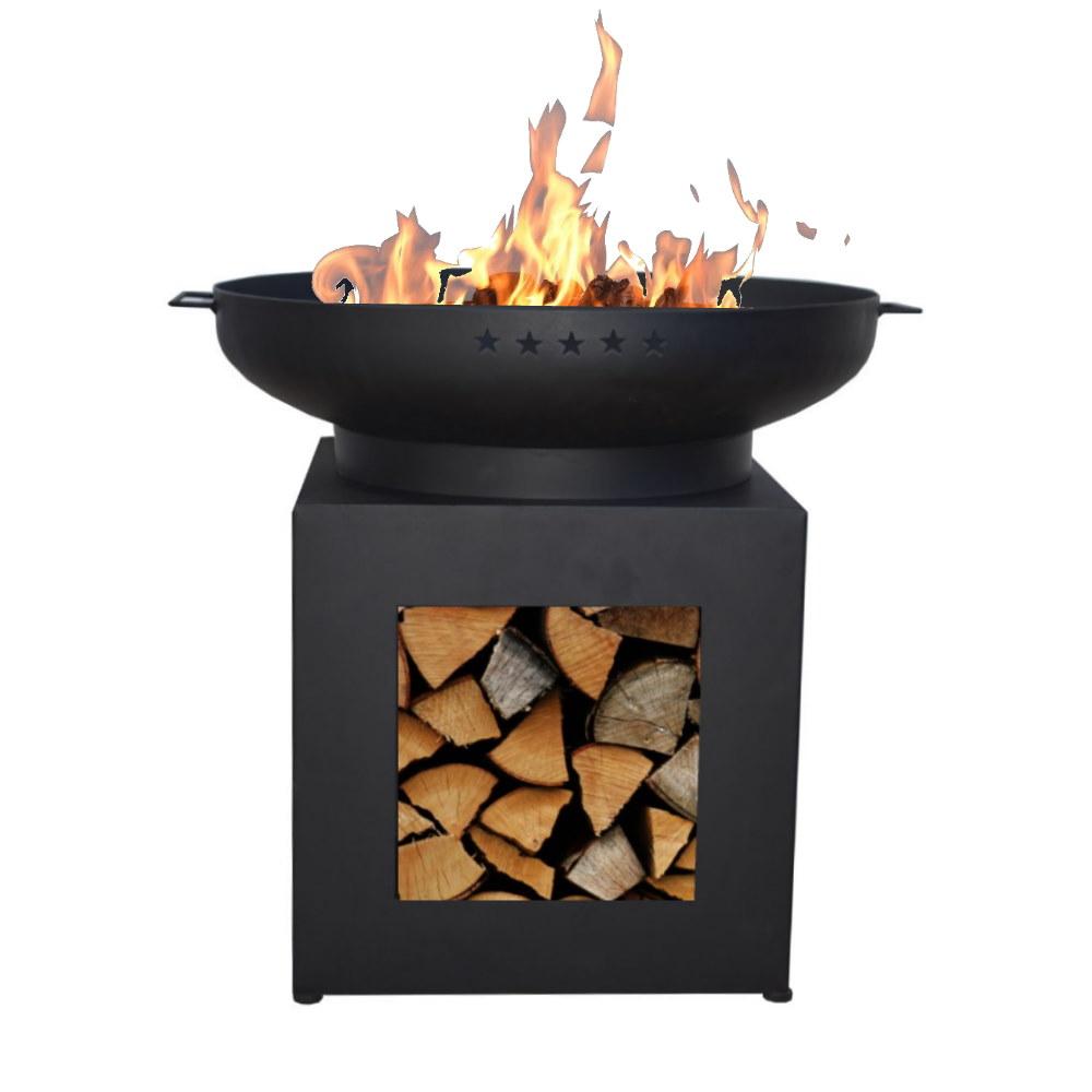 Enjoyfires vuurschaal Ø70 cm complete BBQ set incl. houtopslag Low