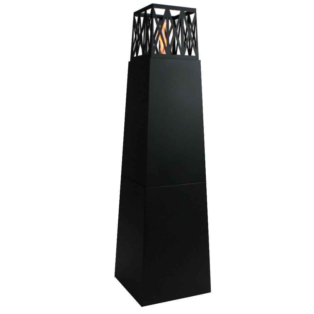 Enjoyfires Torch | bio ethanol haard staand 40x40x145cm - zwart