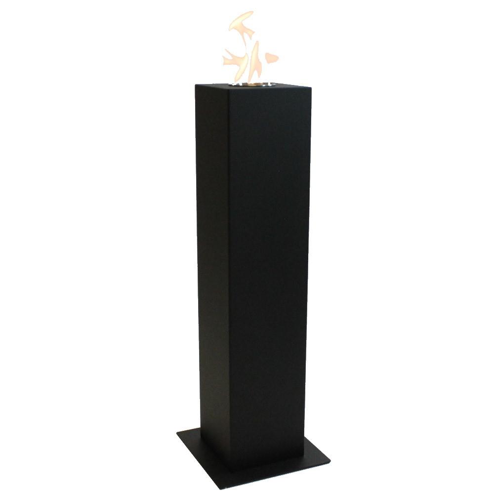 Enjoyfires Column | bio ethanol haard staand 20x20x90cm - zwart