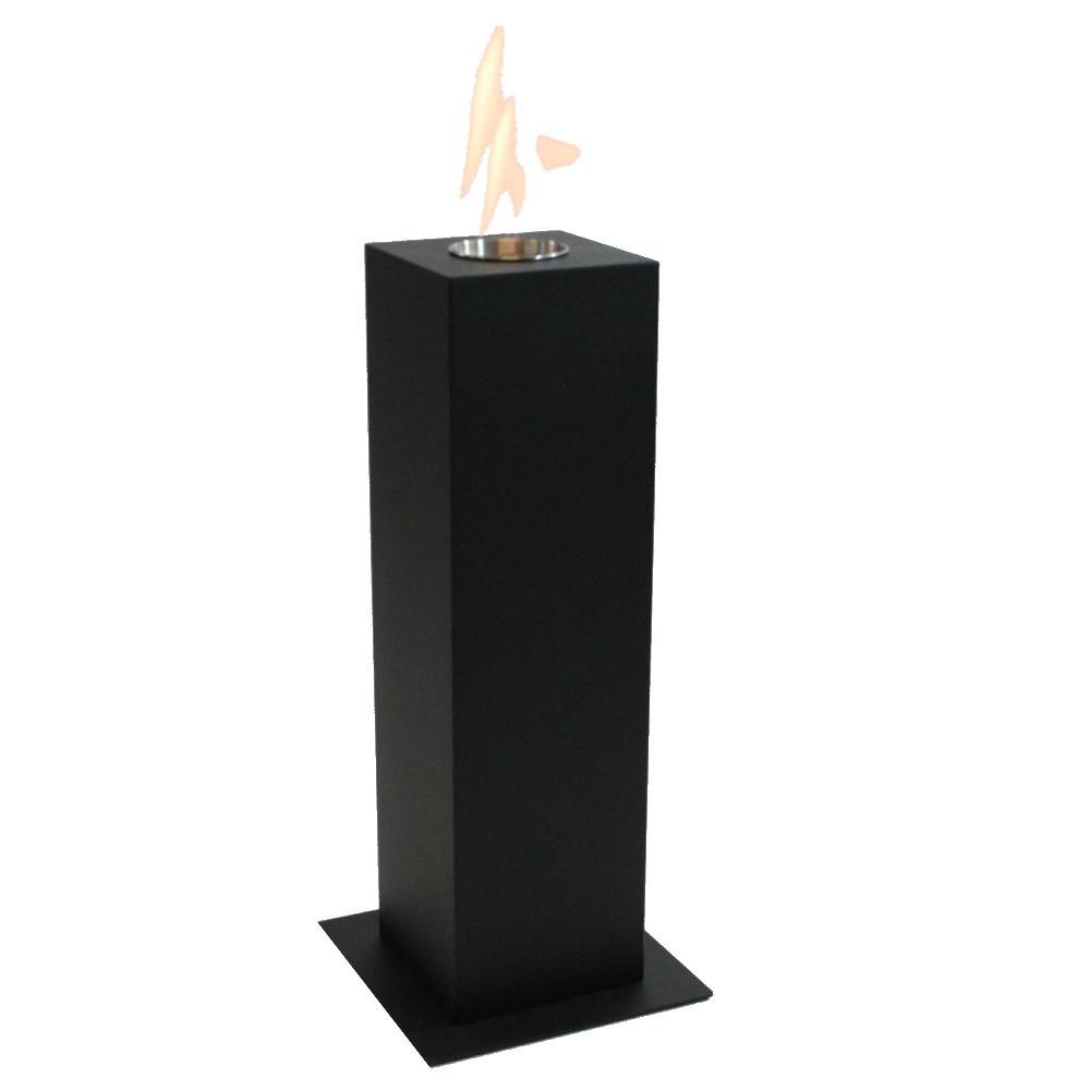 Enjoyfires Column | bio ethanol haard staand 20x20x70cm - zwart