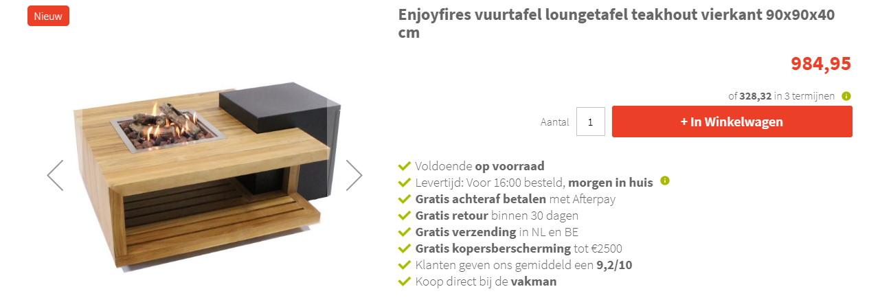 Betaal nu ook bij Designtuinhaarden.nl in 3 termijnen