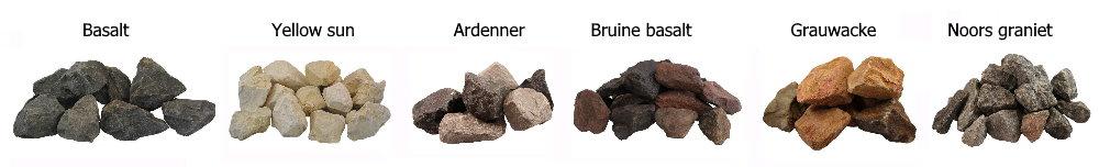 Bij een schanskorf tuinhaard kun je kiezen uit verschillende steensoorten, bekijk ze hier!