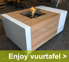 Enjoy vuurtafels zorgen voor warmte en gezelligheid op uw terras