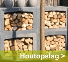 Bewaar uw hout veilig droog in een mooie houtopslag. In veel soorten verkrijgbaar
