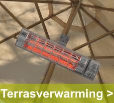 Genieten van de warme straling van terrasverwarmers, ideaal onder een overkapping